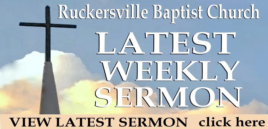 Latest Weekly Sermon